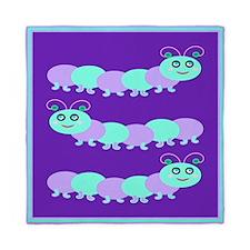 Whimsical Baby Bug Purple Queen Duvet