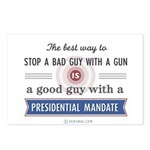 Stop a bad guy with a gun Postcards (Package of 8)