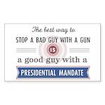 Stop a bad guy with a gun Sticker (Rectangle 50 pk