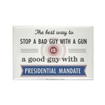 Stop a bad guy with a gun Rectangle Magnet (100 pa