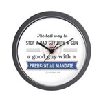 Stop a bad guy with a gun Wall Clock