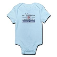 Stop a bad guy with a gun Infant Bodysuit