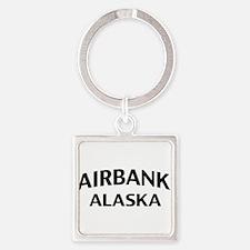 Fairbanks Alaska Square Keychain