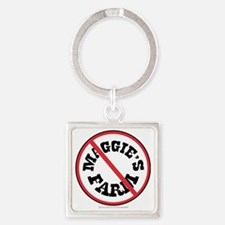 Maggie's Farm/Dylan Square Keychain