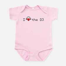 I love (heart) the DJ and headphones design Infant