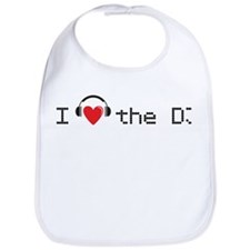 I love (heart) the DJ and headphones design Bib