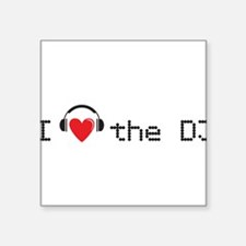 I love (heart) the DJ and headphones design Square