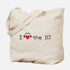 I love (heart) the DJ and headphones design Tote B