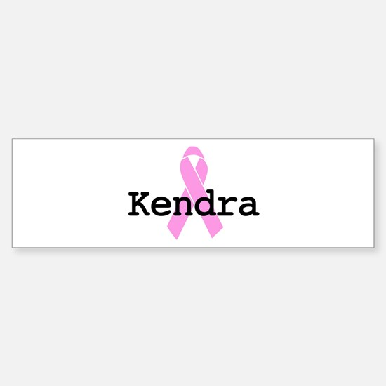 BC Awareness: Kendra Bumper Bumper Bumper Sticker