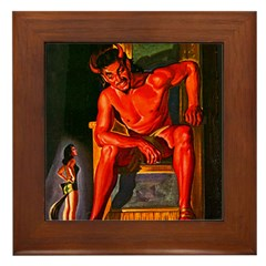 Red Devil Framed Tile