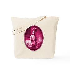 Marie Antoinette Pink Portrait Tote Bag