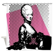Marie Antoinette Pop Art Shower Curtain