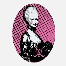 Oval Marie Antoinette Pop Art Ornament (Oval)