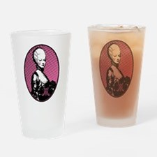 Oval Marie Antoinette Pop Art Drinking Glass