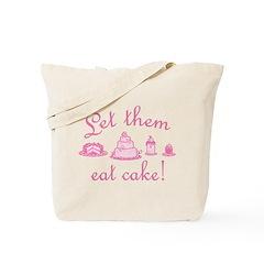 Sweet Pink Let Them Eat Cake Tote Bag
