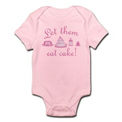 Sweet Pink Let Them Eat Cake Infant Bodysuit