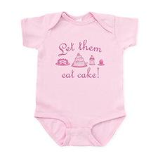 Sweet Pink Let Them Eat Cake Infant Bodysuit