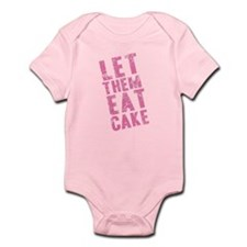 Let Them Eat Cake Pink Infant Bodysuit