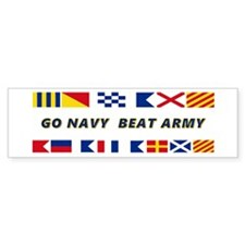 Go Navy Beat Army In Flags Bumper Sticker