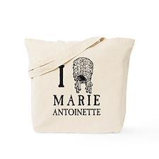 I Love (Wig) Marie Antoinette Tote Bag