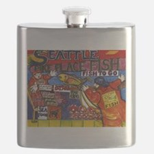 Seattle Fish Market Flask