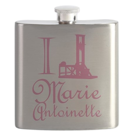 I Guillotine Marie Antoinette Pink Flask