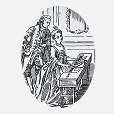 Playing The Harpsichord Ornament (Oval)