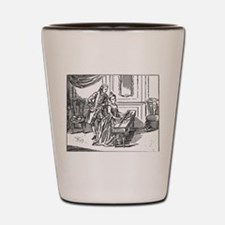 Playing The Harpsichord Shot Glass