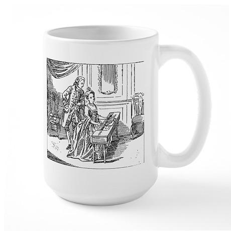 Playing The Harpsichord Large Mug
