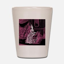 Pink Lady Playing Harpsichord Shot Glass