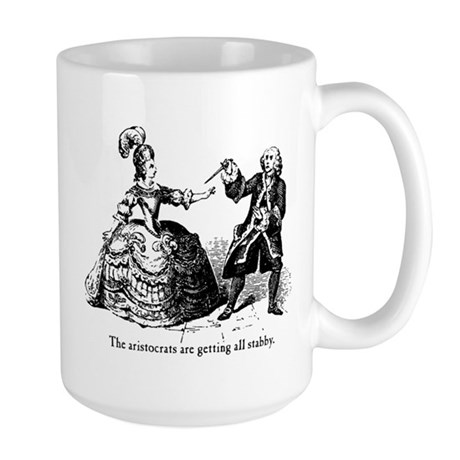 Aristocrats Getting Stabby Large Mug