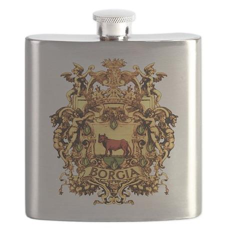 Ornate Borgia Coat Of Arms Flask