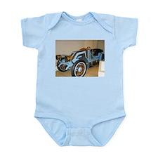 Blue/Brass Classic Car Infant Bodysuit