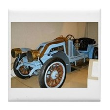 Blue/Brass Classic Car Tile Coaster