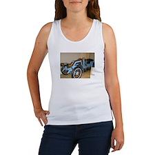 Blue/Brass Classic Car Women's Tank Top