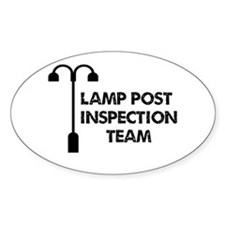 Lamp Post Inspection Team Decal