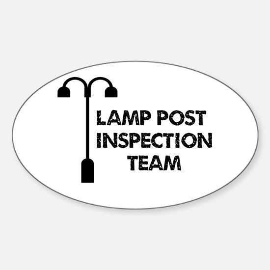 Lamp Post Inspection Team Sticker (Oval)
