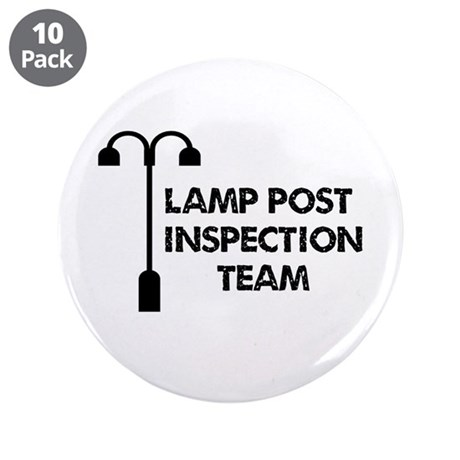 "Lamp Post Inspection Team 3.5"" Button (10 pack)"