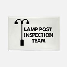 Lamp Post Inspection Team Rectangle Magnet (10 pac