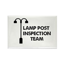 Lamp Post Inspection Team Rectangle Magnet