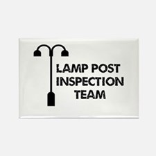 Lamp Post Inspection Team Rectangle Magnet