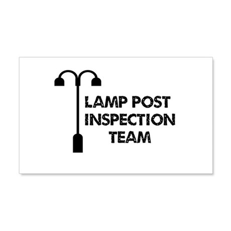 Lamp Post Inspection Team 20x12 Wall Decal