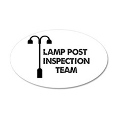 Lamp Post Inspection Team 20x12 Oval Wall Decal