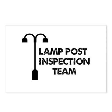 Lamp Post Inspection Team Postcards (Package of 8)