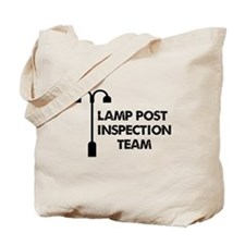 Lamp Post Inspection Team Tote Bag