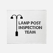 Lamp Post Inspection Team Throw Blanket