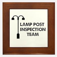 Lamp Post Inspection Team Framed Tile