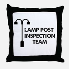 Lamp Post Inspection Team Throw Pillow