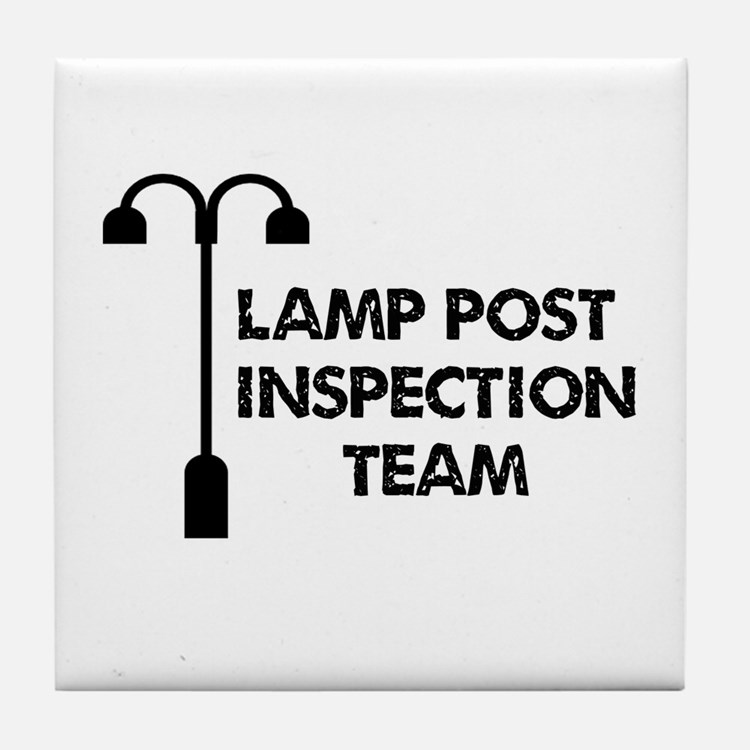 Lamp Post Inspection Team Tile Coaster