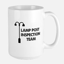Lamp Post Inspection Team Ceramic Mugs